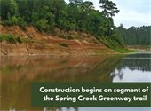 Construction begins on segment of Spring Creek Greenway trail