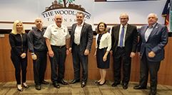 Chief Benson with Township Board of Directors 241 x 134
