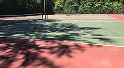 Tennis Courts Opening Soon Two Nets Social Distancing